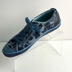 Coach Barrett Blue Sneaker Lace Up